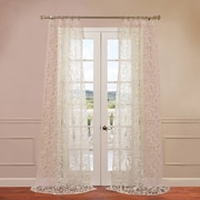 Half Price Drapes Margo Patterned Sheer Curtain Single Panel; 96'' H x 50'' W