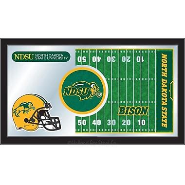 Holland Bar Stool NCAA Football Mirror Framed Graphic Art; North Dakota State