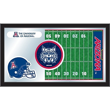 Holland Bar Stool NCAA Football Mirror Framed Graphic Art; Arizona