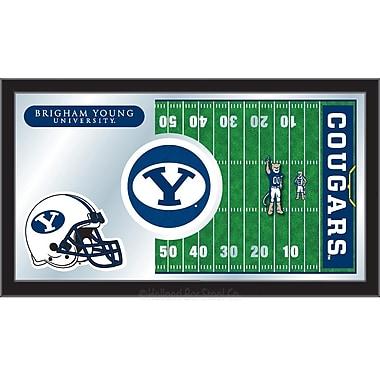 Holland Bar Stool NCAA Football Mirror Framed Graphic Art; Brigham Young
