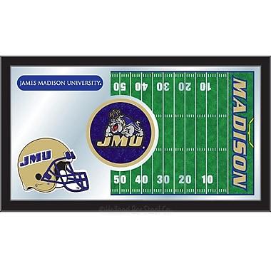 Holland Bar Stool NCAA Football Mirror Framed Graphic Art; James Madison