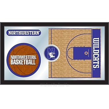 Holland Bar Stool NCAA Basketball Mirror Framed Graphic Art; Northwestern