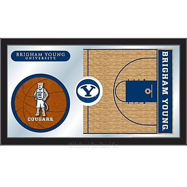 Holland Bar Stool NCAA Basketball Mirror Framed Graphic Art; Brigham Young