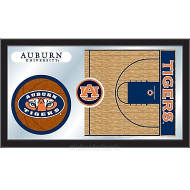 Holland Bar Stool NCAA Basketball Mirror Framed Graphic Art; Auburn