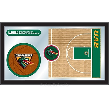 Holland Bar Stool NCAA Basketball Mirror Framed Graphic Art; Alabama at Birmingham