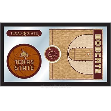 Holland Bar Stool NCAA Basketball Mirror Framed Graphic Art; Texas State
