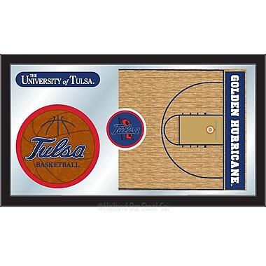 Holland Bar Stool NCAA Basketball Mirror Framed Graphic Art; Tulsa