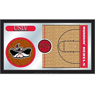 Holland Bar Stool NCAA Basketball Mirror Framed Graphic Art; UNLV