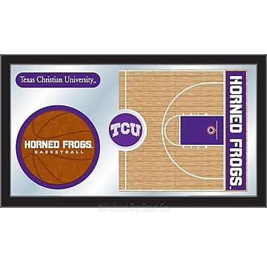 Holland Bar Stool NCAA Basketball Mirror Framed Graphic Art; TCU