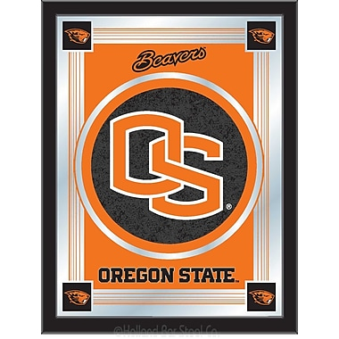 Holland Bar Stool NCAA Logo Mirror Framed Graphic Art; Oregon State