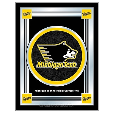 Holland Bar Stool NCAA Logo Mirror Framed Graphic Art; Michigan Tech