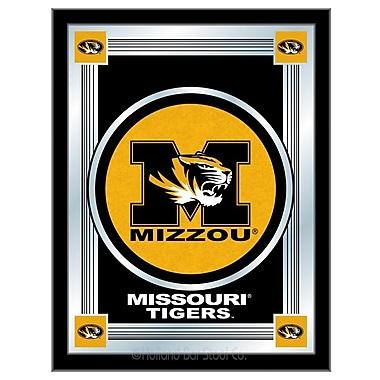Holland Bar Stool NCAA Logo Mirror Framed Graphic Art; Missouri