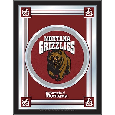 Holland Bar Stool NCAA Logo Mirror Framed Graphic Art; Montana
