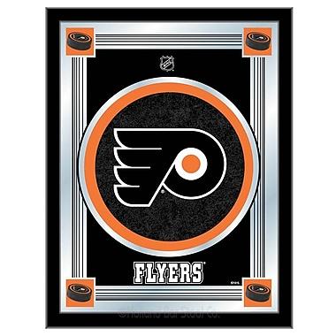 Holland Bar Stool NHL Logo Mirror Framed Graphic Art; Philadelphia Flyers
