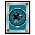 Holland Bar Stool NHL Logo Mirror Framed Graphic Art; San Jose Sharks