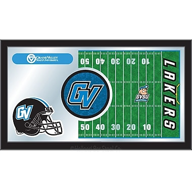 Holland Bar Stool NCAA Football Mirror Framed Graphic Art; Grand Valley State