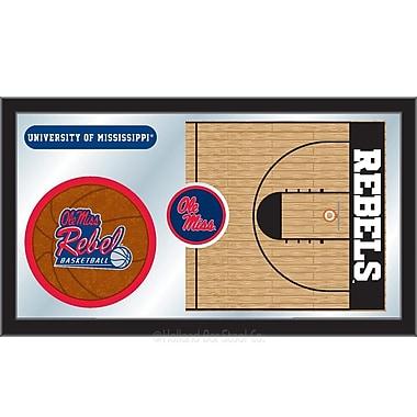 Holland Bar Stool NCAA Basketball Mirror Framed Graphic Art; Ole' Miss