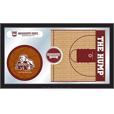 Holland Bar Stool NCAA Basketball Mirror Framed Graphic Art; Mississippi State