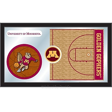 Holland Bar Stool NCAA Basketball Mirror Framed Graphic Art; Minnesota