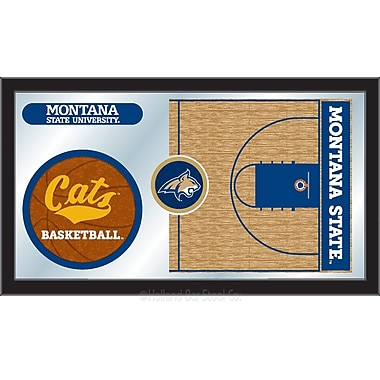 Holland Bar Stool NCAA Basketball Mirror Framed Graphic Art; Montana State