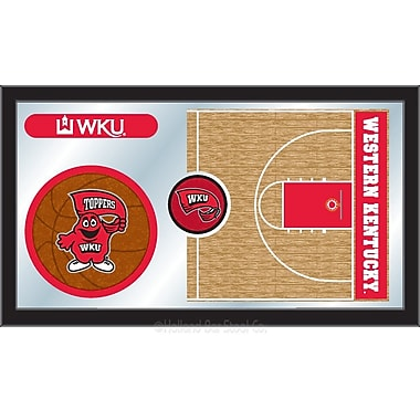 Holland Bar Stool NCAA Basketball Mirror Framed Graphic Art; Western Kentucky
