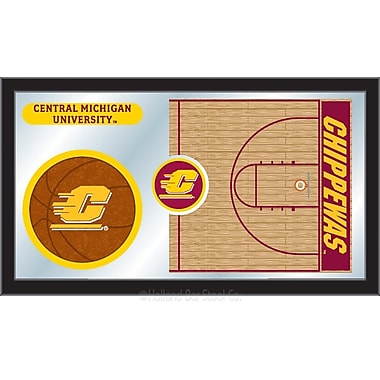 Holland Bar Stool NCAA Basketball Mirror Framed Graphic Art; Central Michigan
