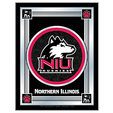 Holland Bar Stool NCAA Logo Mirror Framed Graphic Art; Northern Illinois