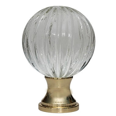 DJA Imports Crystal Curtain Finial