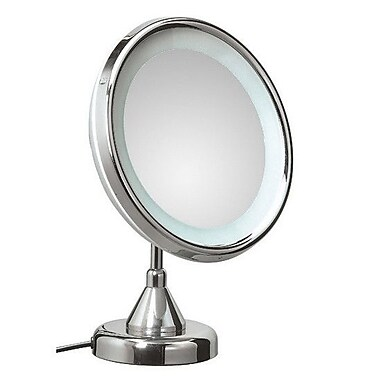 WS Bath Collections Mirror Pure Lucciolo Magnifying Cosmetic Mirror w/ Lighting