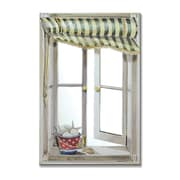 Stupell Industries Green Canopy Mirror Faux Window Painting Print Plaque