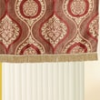 Violet Linen Milano Arts 60'' Curtain Valance; Brown