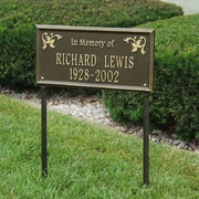 Whitehall Products Wilmington Standard 'In Memory of' Lawn Memorial Sign; Antique Copper