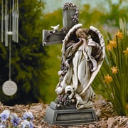 Roman, Inc. Garden Angel with Cross Statue
