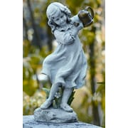 Roman, Inc. Girl w/ Watering Can Statue