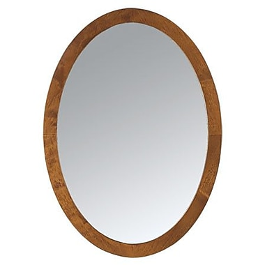Ronbow Oval Wall Mirror; Dark Cherry
