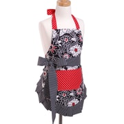 Flirty Aprons Girl's Apron in Scarlet Blossom