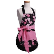 Flirty Aprons Girls' Original Apron in Midnight Bloom