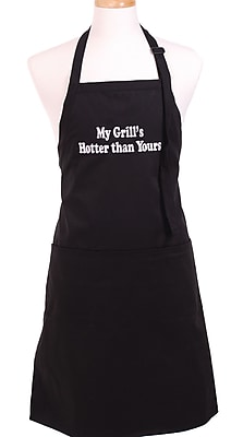 Flirty Aprons Men s My Grill s Hotter Than Yours Apron in Black