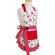 Flirty Aprons Girl's Apron in Very Cherry