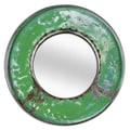 Foreign Affairs Home Decor Kaca Mirror; Green / White