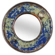 Foreign Affairs Home Decor Kaca Mirror; Olive / Blue
