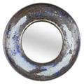 Foreign Affairs Home Decor Kaca Mirror; Silver White / Silver