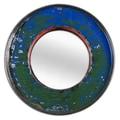Foreign Affairs Home Decor Kaca Mirror; Blue / Green