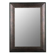 Hitchcock Butterfield Company Antiqued Copper Bronze Framed Wall Mirror; 32'' H x 44'' W