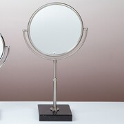 Bissonnet Kosmetic Olympia Makeup Mirror; Brushed Nickel