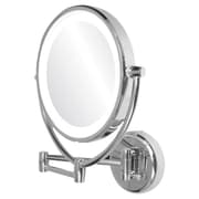 Ovente Dual Side Lighted Round Mirror
