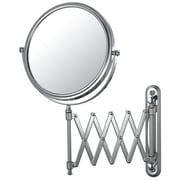 Mirror Image Mirror Image Extension Arm Wall Mirror; Brushed Brass