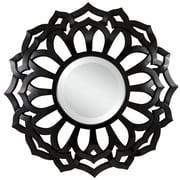 Cooper Classics Martin Wall Mirror; Glossy Black