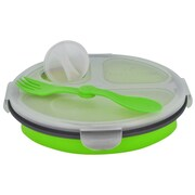 Smart Planet Eco 34-oz. Collapsible Lunch Box; Green