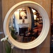 Reflecting Design  Ilyrian 33  Convex Wall Mirror; Bone White